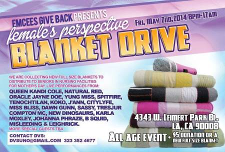 Female's Perspective Blanket Drive show
