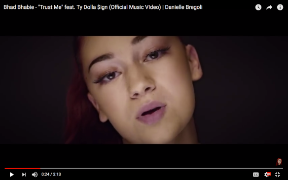 "d2af37486c11f9 Bhad Bhabie ft.Ty Dolla  ign ""Trust Me"" video"